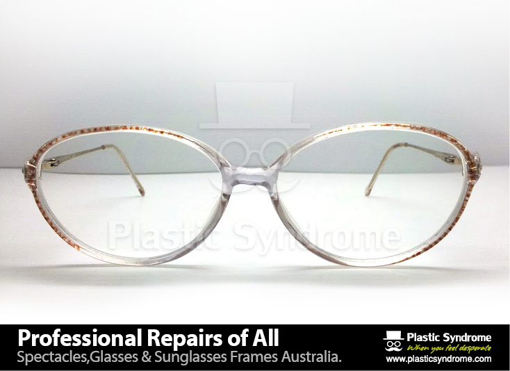Prescription Eyeglass Plastic Frame bridge repair5
