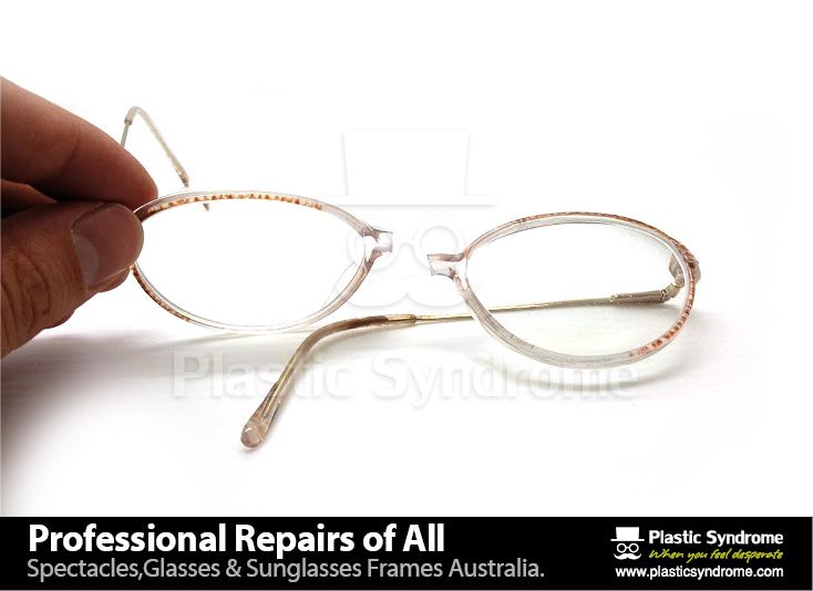 Prescription Eyeglass Plastic Frame bridge repair2