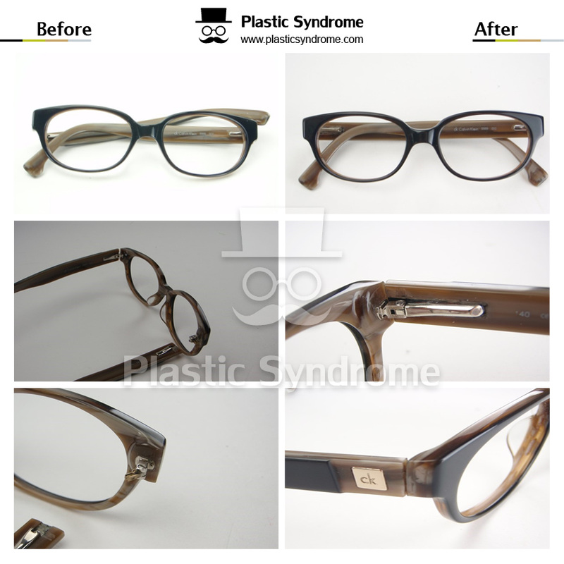 Broken Prescription Plastic Eyeglasses Spring hinge Repair Fix Brisbane