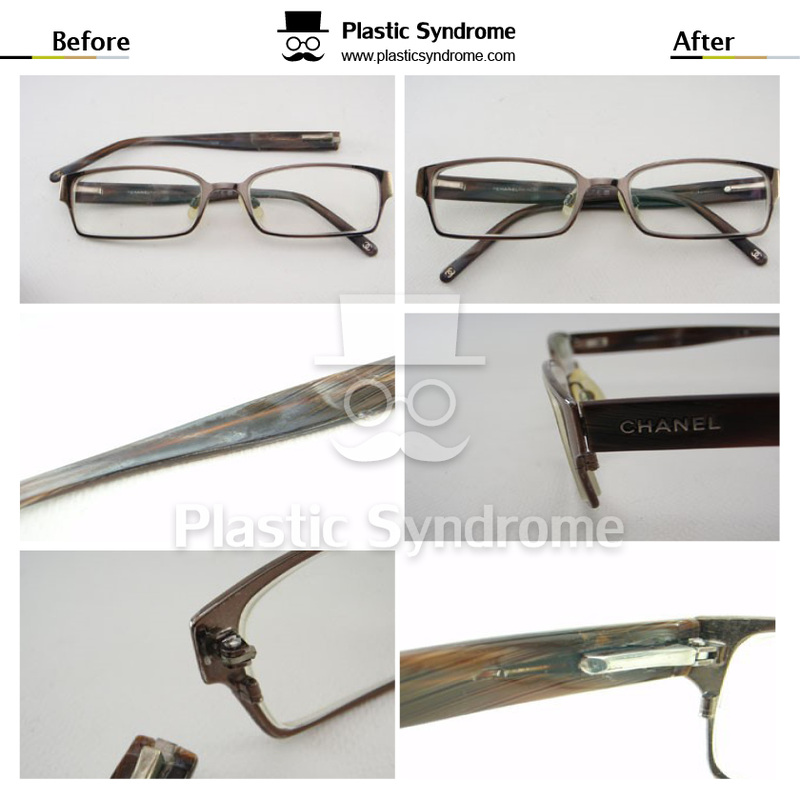 Chanel Broken Prescription Metal Eyeglasses Spring hinge Repair Fix Brisbane