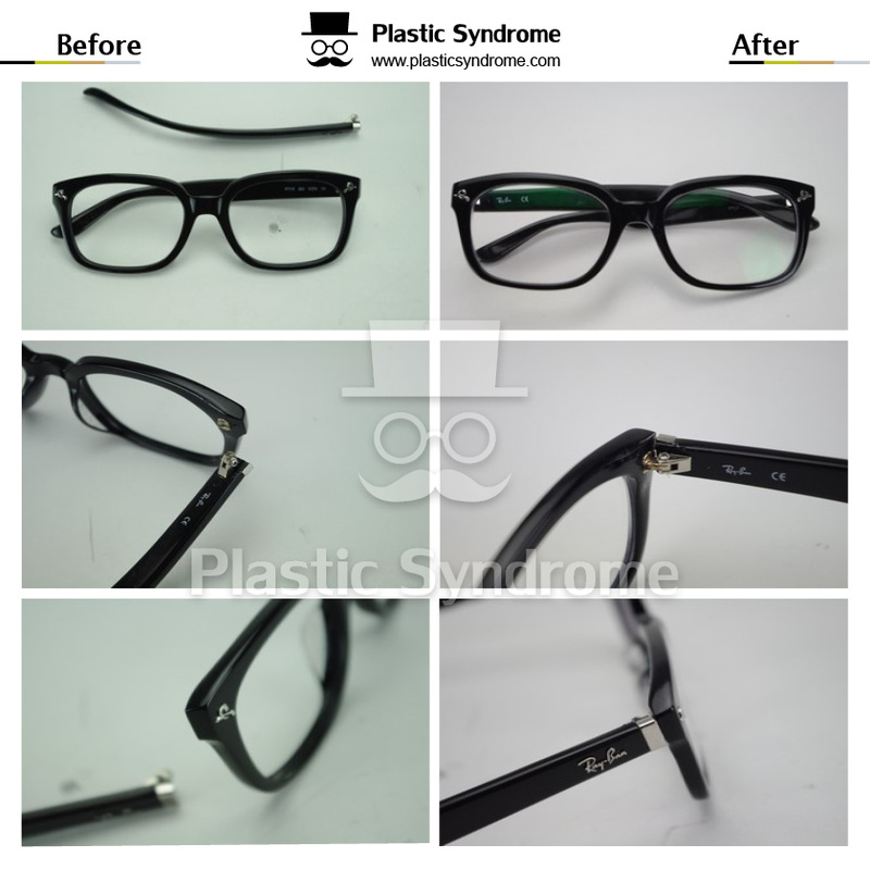 broken rayban arm Repair/Fix