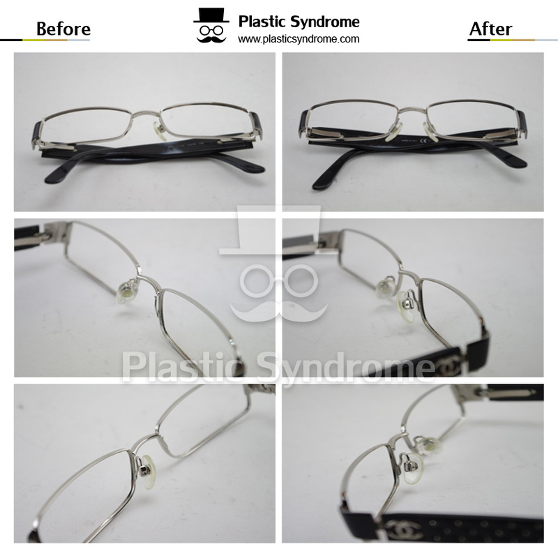 Broken Chanel Prescription Metal Eyeglasses Repair Fix Brisbane